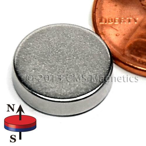 "N45 Neodymium Magnet Disc Dia 1//2x1//8/"" Strong NdFeB Rare Earth 20-Counts"