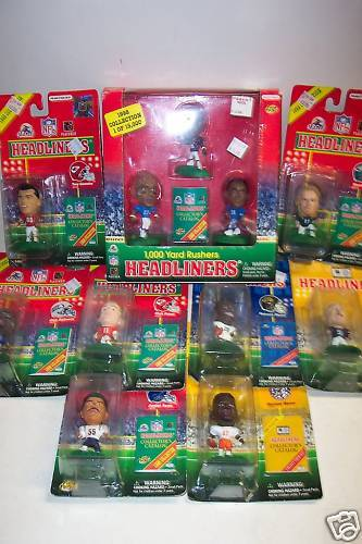 11 New 1997-98 NFL Headliners Figures