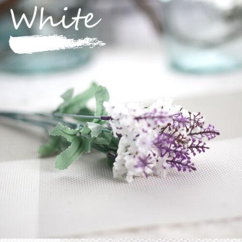10 stems Artificial Floral Silk Fake Flower Bouquet Home Decor Wedding Decor 7