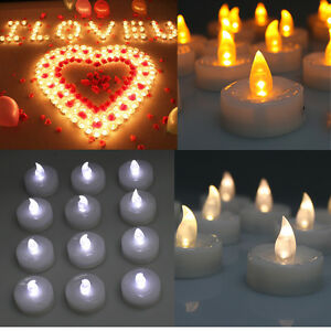 24 60 100 Pcs Electronic Tea Light Led Candle For