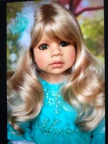 "Masterpiece Dolls Jasmine Blonde Wig Fits Up To A 19"" Head"