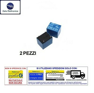 2PZ RELE 12V DC RELAY 220V 250V 10A AC PER PCB CIRCUITO STAMPATO NA NC 1 SCAMBIO