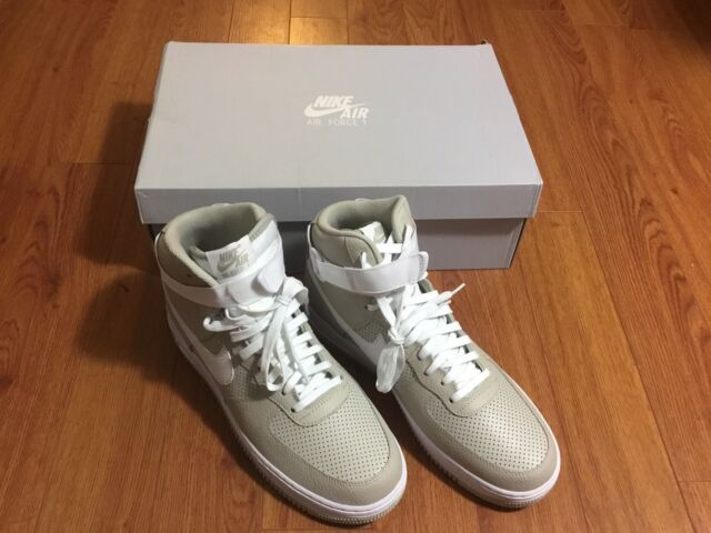 save off 2e486 cfcfa Nike Air Force 1 Size 9.5 Af1 High 07 Pale Grey White 315121-039 Shoe