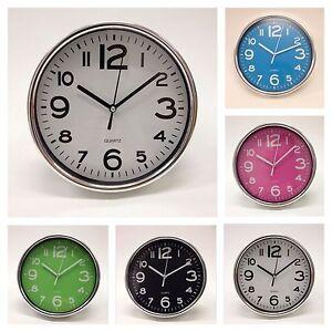 Wanduhr-Analog-Quartz-Design-Uhr-Buero-trendig-Kuechenuhr-WEISS
