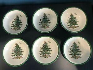 "Lot SET OF 6 SPODE CHRISTMAS TREE CEREAL BOWLS ENGLAND -NWT 6 1/4""   eBay"