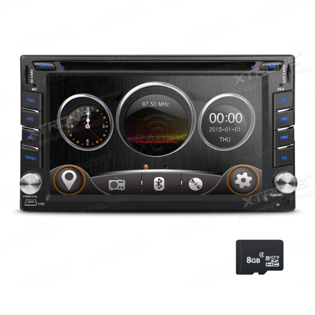 "Doppel 2 DIN Autoradio  6.2"" Touchscreen USB SD DVD Player GPS Navi Bluetooth"