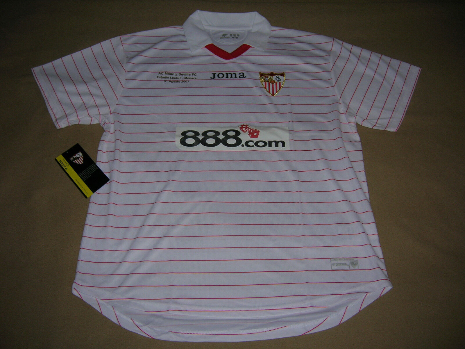 Camiseta de fútbol Sevilla Joma Nueva Super Cup Final AC Milan