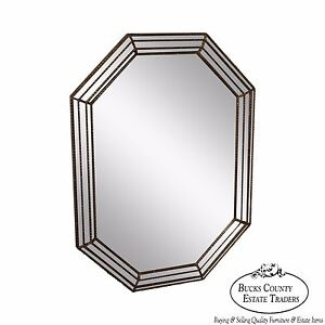 Hollywood-Regency-Silver-Gilt-Octagonal-Wall-Mirror-by-Mirror-Fair