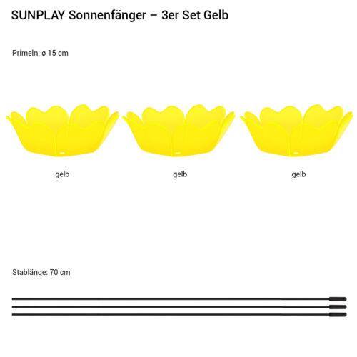 SUNPLAY Sonnenfänger Ø15cm Sets Suncatcher Gartenstecker Primel Farbwahl