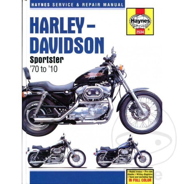 XLH 883 Sportster 1993 Haynes Manual de Reparación y Mantenimiento 2534