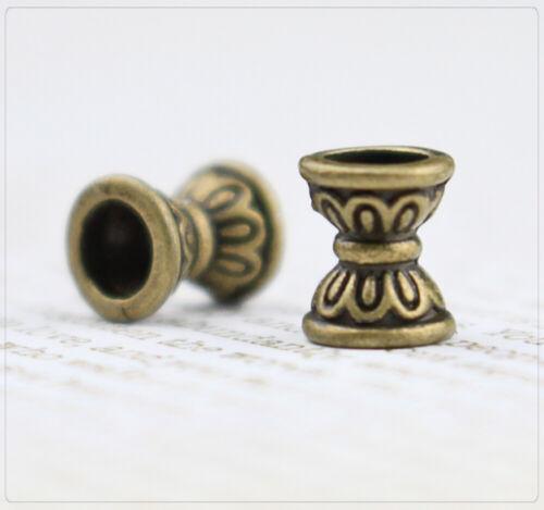 20 perlas spacer entre parte joyas DIY bronce doppelkegel Antik patrón