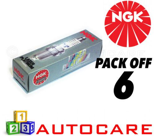 6 Pack NGK Laser Platinum Spark Plug set 4968 6pk Part Number: TR6AP-13E No