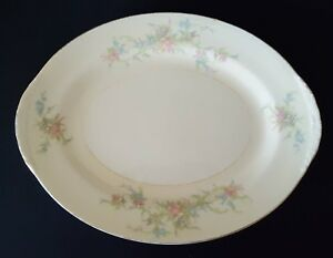 "Homer Laughlin China Serving Platter Eggshell Nautilus Shabby Farmhouse 13"""