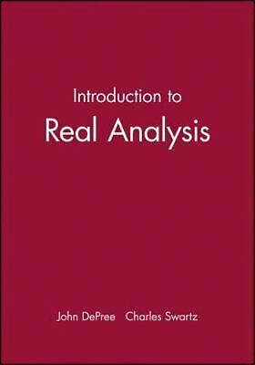 Introduction to Real Analysis, John DePree, Charles Swartz, Good Book  9780471853916 | eBay