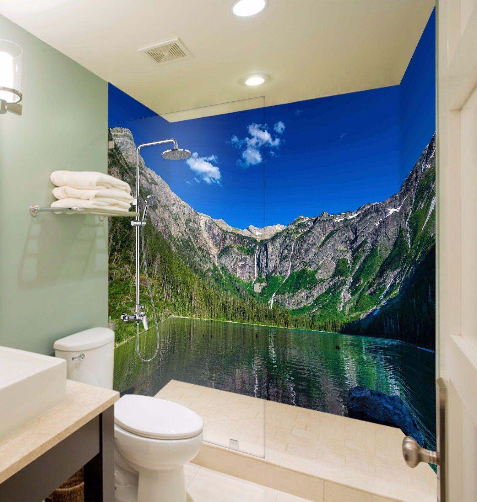 3D Mountain Lake 528 WallPaper Bathroom Print Decal Wall Deco AJ WALLPAPER AU