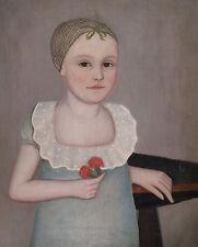 Henrietta Dorr Ammi Phillips Kinder Mädchen Kappe Haarnetz Blumen B A3 00466