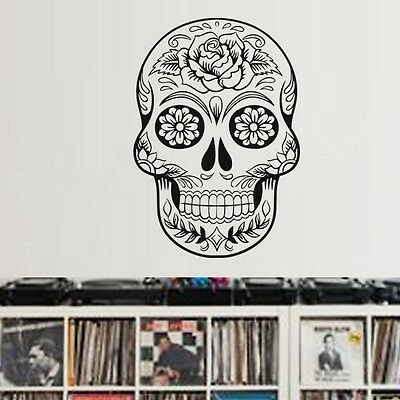 5cm x 3cm Sticker Voiture T/ête De Mort Sticker Mexicaine Rose