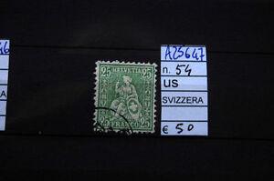 FRANCOBOLLI-SVIZZERA-USATI-N-54-A25647