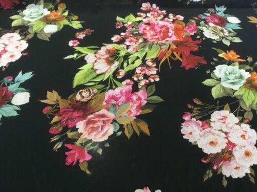 NEW High Class Designer Multicoloured Floral Chiffon Print Fabric