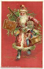 PERE NOEL.SANTA CLAUS. CHRISTMAS. ROBE ROUGE . RED DRESS