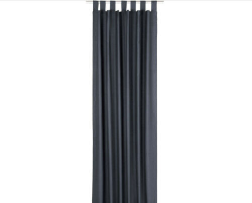 """Vorhang /""""DOVE/"""" Tom Tailor 255//140 cm anthrazit mit Schlaufen 1 Stück  68200569"""