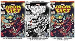 IRON-FIST-1-RYAN-STEGMAN-3-PACK-1st-MARVEL-PREMIERE-15-HOMAGE-VARIANT-NM