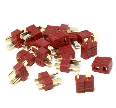 40 Stück DEAN NYLON Hochstrom T-Stecker T-Plug Connector Goldstecker 20 Paar