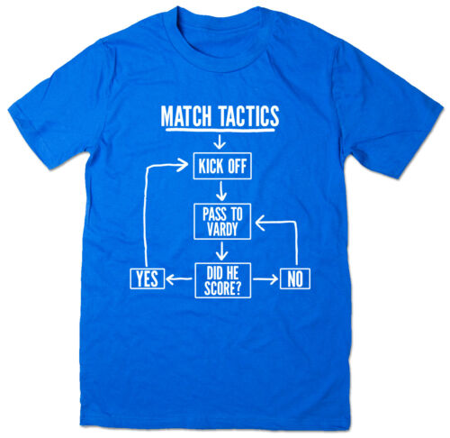Match Tactics Funny Leiscester City FC Football T-shirt Pass to Vardy