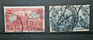 FRANCOBOLLI-GERMANIA-REICH-1902-LEGGENDA-DEUTSCHES-REICH-TIMBRATI-USED-C-B