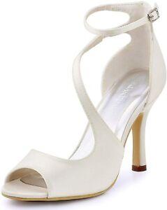 Scarpe Sposa Ebay.Scarpe Da Sposa Bianco Raso Numero 37 Ebay