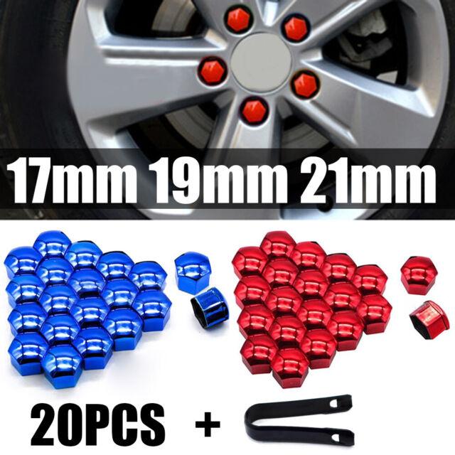 20Pcs Black Caps 19mm Car Wheel Hub Nuts Lugs Bolts Screw Dust Rust Covers ert