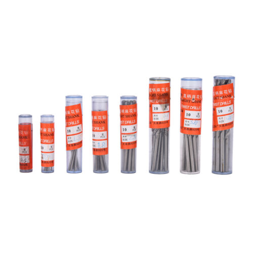 10Pcs Micro HSS 0.3-3mm Straight Shank Twist Drilling Bits Sets Tiny Durable  Vn
