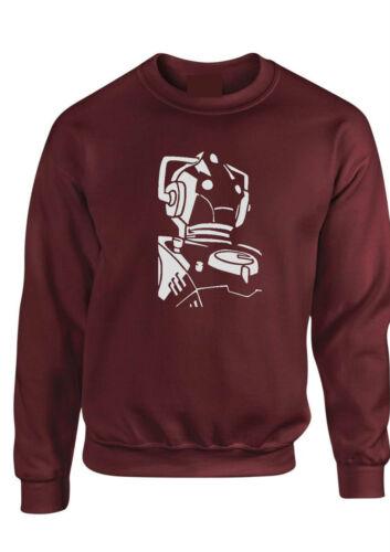 Cyberman ROBOT sci-fi DR WHO SWEATER Serie TV Unisex Uomo Felpa Kids