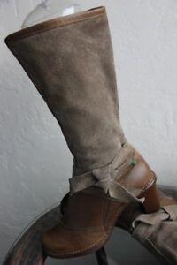 Details zu TOP !!! EL NATURALISTA Stiefel Stiefelette Echtleder Gr. 40 Khaki