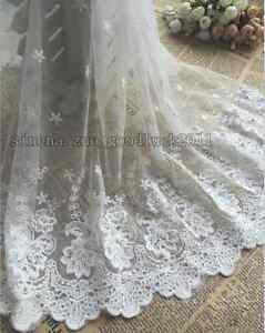 17-7-034-1yard-delicate-white-embroidered-flower-tulle-lace-trim-Sewing-DIY-FL114