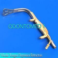Fiber-optic Wieder Tongue Depressor Retractors 40mm x105mm BST-016