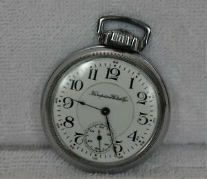 Hampden 16S, 17J, Model 4, Wm McKinley Pocket Watch. Runs Well: Looks Great!