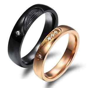 Anello-Anelli-Coppia-Fedi-Fede-Fedine-Fidanzamento-Nuziali-Cuore-Cristallo-Oro-2