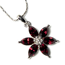 989a0b0e52c item 1 ~RUBY RED FLOWER~ Pendant Necklace with Genuine Swarovski Crystals  -~RUBY RED FLOWER~ Pendant Necklace with Genuine Swarovski Crystals