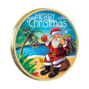 Australia-2015-Merry-Christmas-Santa-Clause-1-Coloured-UNC-Coin-Carded