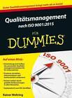 Qualitätsmanagement nach ISO 9001:2015 für Dummies von Rainer Weltring (2016, Taschenbuch)