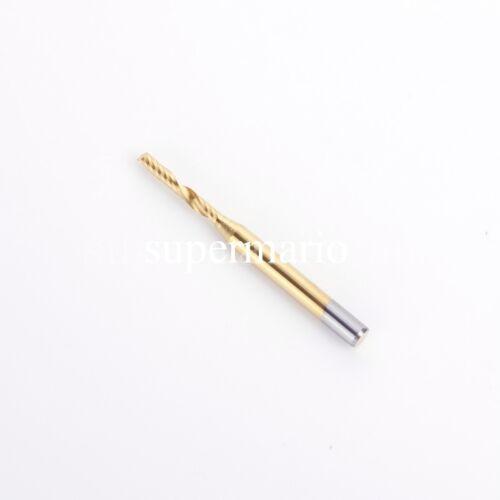5x 1//8/'/' Titanium N2 Coated Carbide One Single Flute CNC Router Bit 2mm x12mm