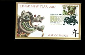 2002-First-day-Cover-Year-of-the-OX-New-York-NY
