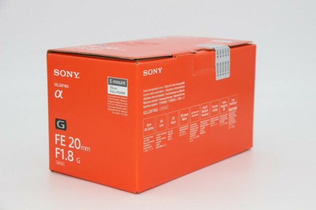 NEW.Sony FE 20mm F1.8 G Full Frame Lens Ultra-wide angle prime. 2 YEARS WARRANTY