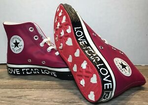 Promover Puerto desarrollo de  HOT NEW Converse Chuck Taylor All-Star 70 LOVE NO FEAR Wm's 6.5 High Top  563427C | eBay
