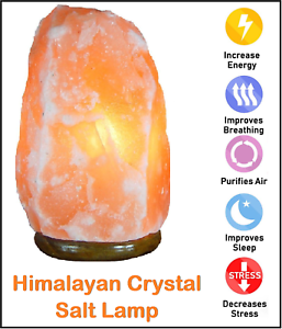 Large Natural Himalayan Pink Salt Lamp Crystal Hand Crafted Bulb /& Plug 4-6KG