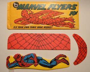 1966-TOPPS-MARVEL-FLYERS-SPIDER-MAN-GLIDER-w-ORIGINAL-PACKAGE-RARE
