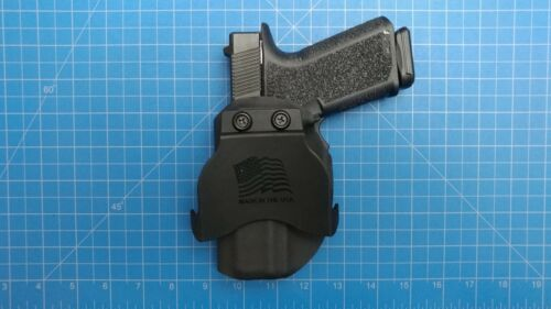 Polymer 80 Pf940c Owb right hand carry Kydex Holster with paddle mount black