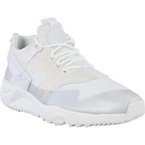 new product e1524 1dadb Details about Mens NIKE AIR HUARACHE UTILITY Off White Trainers 806807 100