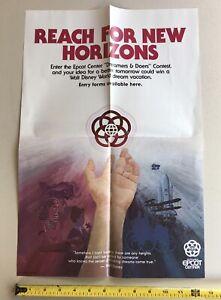 "Walt Disney World Epcot Center ""Dreamers & Doers"", Reach For New Horizons Poster"